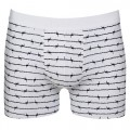 Aubade Men Barbewire Boxer White and Blue