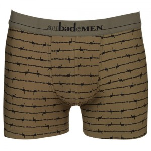 Aubade Men Barbewire Boxer Khaki Green and Black