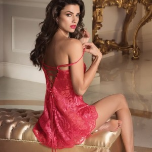 Lise Charmel Splendeur Soie ALC1680 Koszulka nocna Night Dress Baby Doll Splendeur Santal