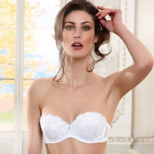 Lise Charmel Dressing Floral ACC5688 Strapless Push-up Blanc