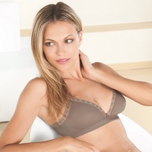 Epure Lise Charmel Satin Seduction PCP6510 Triangle Wireless bra Warm Taupe