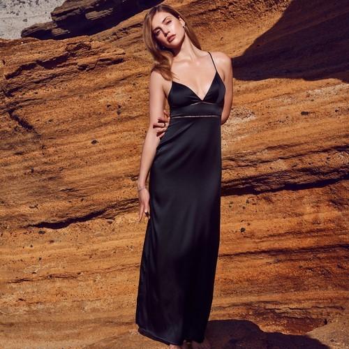 0dac6002ecced1 Marie Jo Precious 802161 Długa koszulka nocna Black - sklep ...